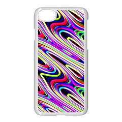 Multi Color Wave Abstract Pattern Apple Iphone 8 Seamless Case (white) by Celenk