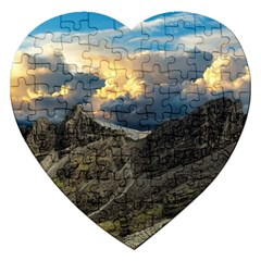 Landscape Clouds Scenic Scenery Jigsaw Puzzle (heart) by Celenk