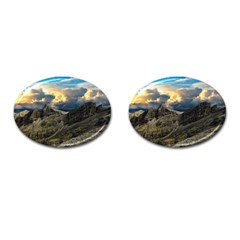 Landscape Clouds Scenic Scenery Cufflinks (oval) by Celenk