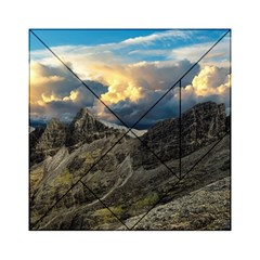 Landscape Clouds Scenic Scenery Acrylic Tangram Puzzle (6  X 6 ) by Celenk