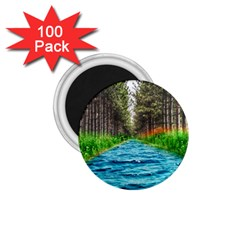 River Forest Landscape Nature 1 75  Magnets (100 Pack)  by Celenk