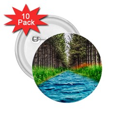 River Forest Landscape Nature 2 25  Buttons (10 Pack)  by Celenk