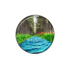River Forest Landscape Nature Hat Clip Ball Marker (4 Pack)
