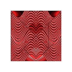 Red Wave Pattern Acrylic Tangram Puzzle (4  X 4 ) by Celenk