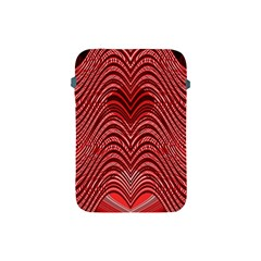 Red Wave Pattern Apple Ipad Mini Protective Soft Cases by Celenk
