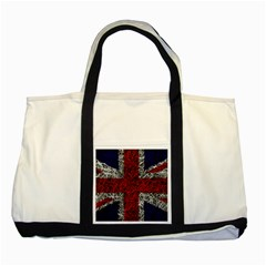 Union Jack Flag Uk Patriotic Two Tone Tote Bag by Celenk