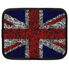 Union Jack Flag Uk Patriotic Netbook Case (xl)  by Celenk