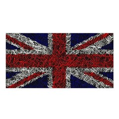 Union Jack Flag Uk Patriotic Satin Shawl by Celenk