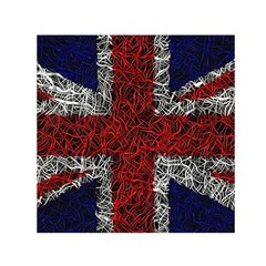 Union Jack Flag Uk Patriotic Small Satin Scarf (square) by Celenk