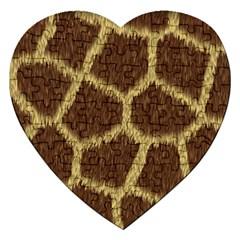 Background Texture Giraffe Jigsaw Puzzle (heart) by Celenk