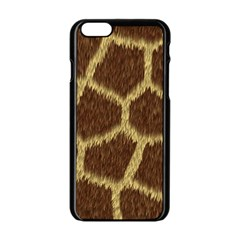 Background Texture Giraffe Apple Iphone 6/6s Black Enamel Case by Celenk