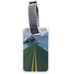 Road Ice Landscape Luggage Tags (one Side)  by Celenk