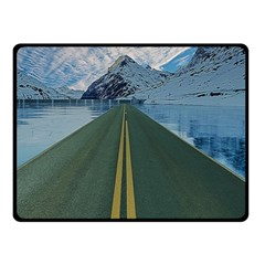 Road Ice Landscape Double Sided Fleece Blanket (small)  by Celenk
