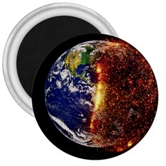 Climate Change Global Warming 3  Magnets by Celenk