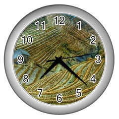 Rice Field China Asia Rice Rural Wall Clocks (silver)  by Celenk