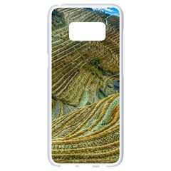 Rice Field China Asia Rice Rural Samsung Galaxy S8 White Seamless Case by Celenk
