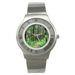 Forest Woods Nature Landscape Tree Stainless Steel Watch by Celenk