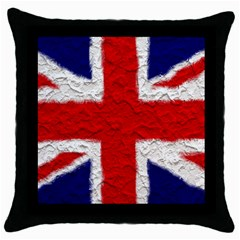 Union Jack Flag National Country Throw Pillow Case (black) by Celenk