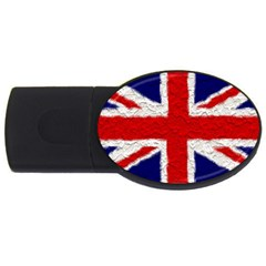 Union Jack Flag National Country Usb Flash Drive Oval (4 Gb) by Celenk