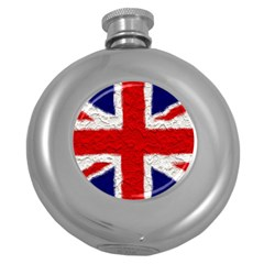 Union Jack Flag National Country Round Hip Flask (5 Oz) by Celenk