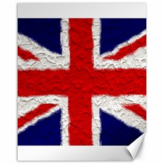 Union Jack Flag National Country Canvas 16  X 20