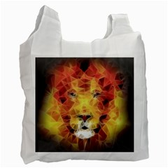 Fractal Lion Recycle Bag (one Side) by Celenk