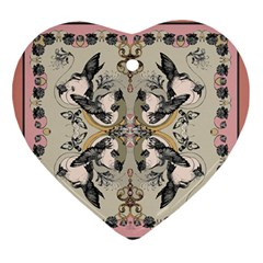 Vintage Birds Ornament (heart) by Celenk