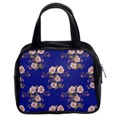 Ndigo Bedding Floral Classic Handbags (2 Sides) by Celenk