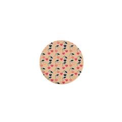 Heart Cherries Cream 1  Mini Buttons by snowwhitegirl