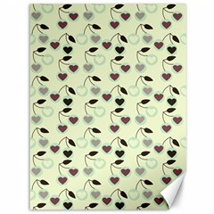 Heart Cherries Mint Canvas 36  X 48   by snowwhitegirl