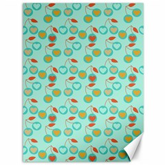 Light Teal Heart Cherries Canvas 36  X 48   by snowwhitegirl