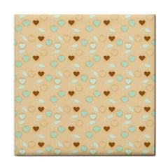 Beige Heart Cherries Face Towel by snowwhitegirl
