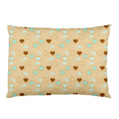Beige Heart Cherries Pillow Case by snowwhitegirl