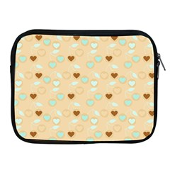Beige Heart Cherries Apple Ipad 2/3/4 Zipper Cases by snowwhitegirl