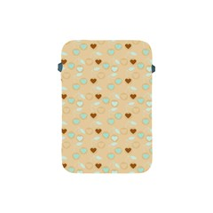 Beige Heart Cherries Apple Ipad Mini Protective Soft Cases by snowwhitegirl
