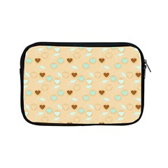 Beige Heart Cherries Apple Ipad Mini Zipper Cases by snowwhitegirl