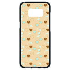 Beige Heart Cherries Samsung Galaxy S8 Black Seamless Case by snowwhitegirl