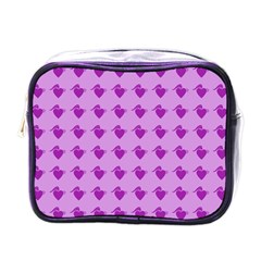 Punk Heart Violet Mini Toiletries Bags by snowwhitegirl
