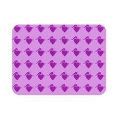 Punk Heart Violet Double Sided Flano Blanket (mini)  by snowwhitegirl