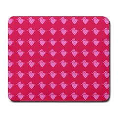 Punk Heart Pink Large Mousepads by snowwhitegirl
