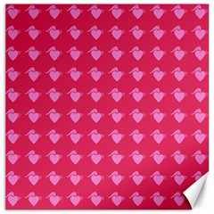 Punk Heart Pink Canvas 12  X 12   by snowwhitegirl