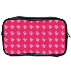 Punk Heart Pink Toiletries Bags by snowwhitegirl