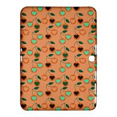 Peach Cherries Samsung Galaxy Tab 4 (10 1 ) Hardshell Case  by snowwhitegirl