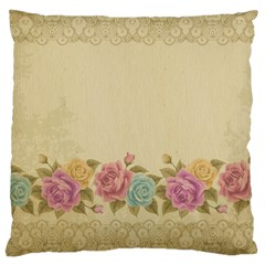 Shabby Country Large Cushion Case (two Sides) by 8fugoso