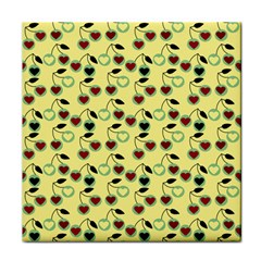 Yellow Heart Cherries Face Towel by snowwhitegirl