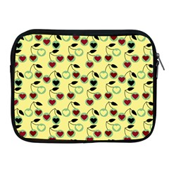 Yellow Heart Cherries Apple Ipad 2/3/4 Zipper Cases by snowwhitegirl