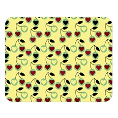 Yellow Heart Cherries Double Sided Flano Blanket (large)  by snowwhitegirl