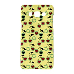 Yellow Heart Cherries Samsung Galaxy A5 Hardshell Case  by snowwhitegirl