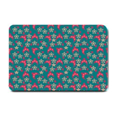 Teal Hats Small Doormat