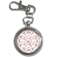 Bubblegum Cherry White Key Chain Watches by snowwhitegirl